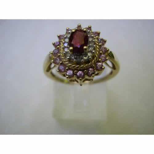 10K YELLOW GOLD .40CT RUBY & DIAMOND RING -