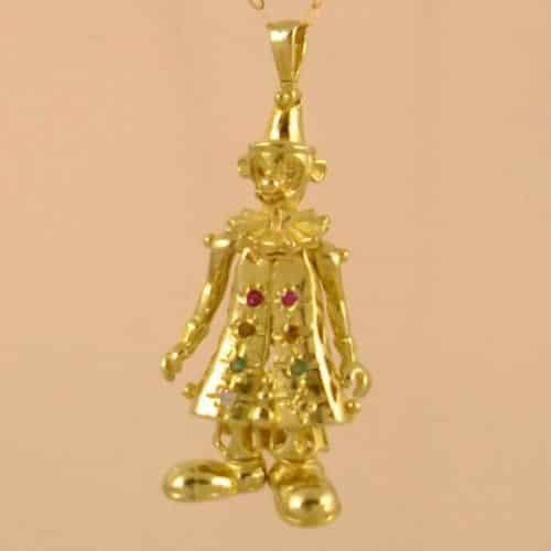 CLOWN LARGE PENDANT 9CT GOLD -