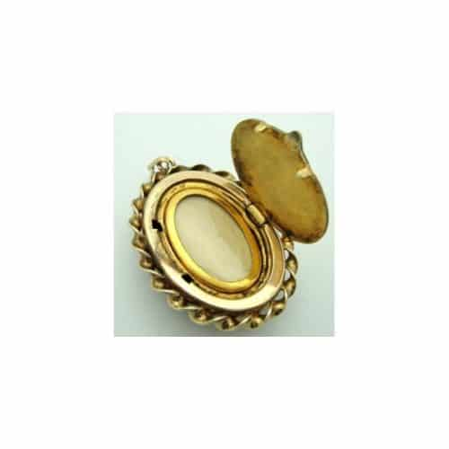 ANTIQUE  VINTAGE GOLD FILLED LOCKET WITH MOTHER OF PEARL -