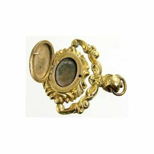 VICTORIAN OPENING SWIVEL ROLLED GOLD FOB SEAL -