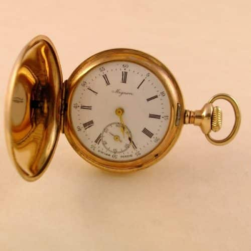 OUTSTANDING LADIES HUNTER CASED POCKET WATCH SWISS MADE -