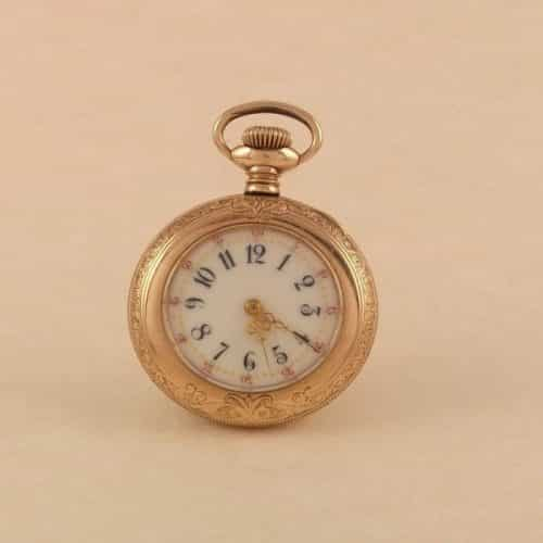 0S NEW ENGLAND WATCH CO LADIES POCKET WATCH MULTI-COLOR -