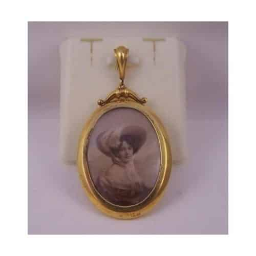 ANTIQUE 9CT GOLD DOUBLE SIDED PHOTO LOCKET -
