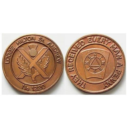 HILTON ST ANDREW LODGE NO 1220 MASONIC PENNY -