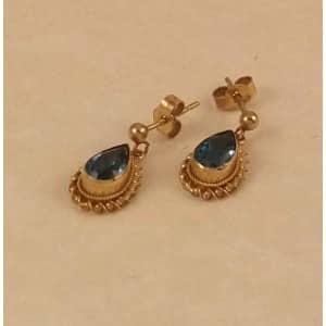 9CT GOLD TOPAZ EARRINGS