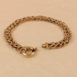 9ct-gold-chain-bracelet