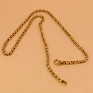 ANTIQUE SOLID 9CT GOLD NECKLACE CHAIN - 8G -