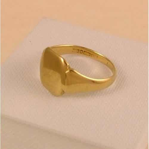 ANTIQUE SOLID 9CT GOLD SIGNET RING 4.4 GRAMS -