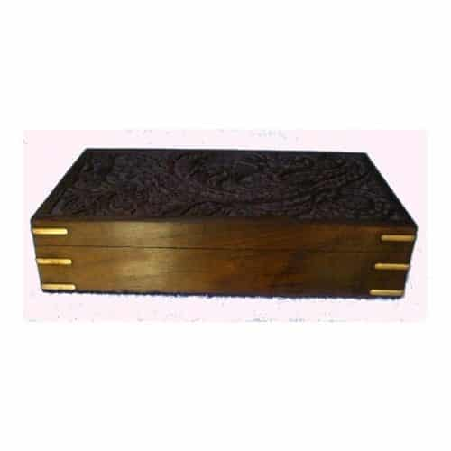 CARVED JEWELLERY BOX – LARGE -