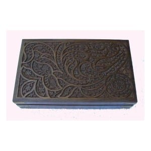 CARVED JEWELLERY BOX – LARGE