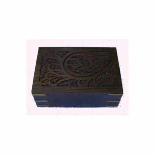 CARVED JEWELLERY BOX – SMALL -