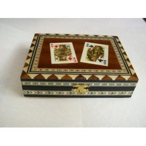 CASINO POKER PLAYING CARDS DELUXE CRAFTED BOX