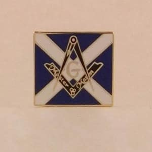 MASONIC SCOTTISH FLAG S & C LAPEL PIN BADGE