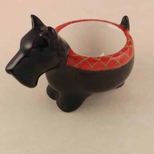 SCOTTISH TERRIER OR SCOTTY DOG -CERAMIC EGG CUP BY ENESCO -