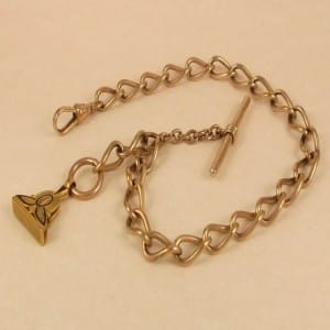SPECTACULAR 14K GOLD FILLED FANCY POCKET WATCH CHAIN 29.42G -