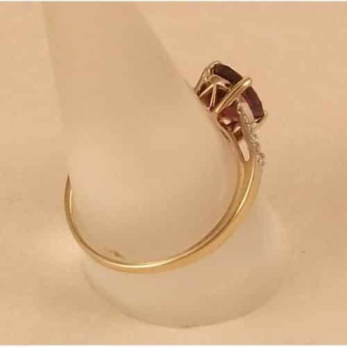 TOURMALINE AND DIAMOND DRESS RING 9CT GOLD -