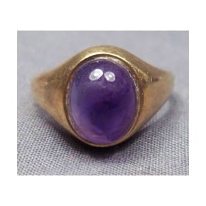 VINTAGE 375 9CT SOLID GOLD AMETHYST RING FULLY HALLMARKED LONDON 1978 BIRMINGHAM