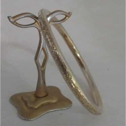 CHARLES HORNER ANTIQUE ART DECO 9CT ROLLED GOLD SLAVE BANGLE -