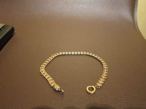 GORGEOUS VICTORIAN 9K SOLID GOLD BOOKCHAIN BRACELET -
