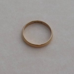 1817a-SOLID 9 CT YELLOW GOLD WEDDING BAND RING - SIZE O