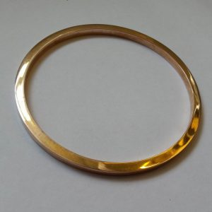 1854A-9CT ROSE GOLD PLAIN BANGLE ~ 8GMS ~ STAMPED 9.375 BIRMINGHAM 1926