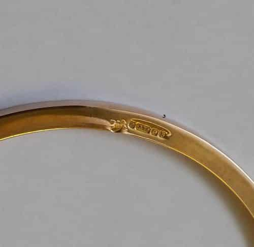 9CT ROSE GOLD PLAIN BANGLE ~ 8GMS ~ STAMPED 9.375 BIRMINGHAM 1926 -