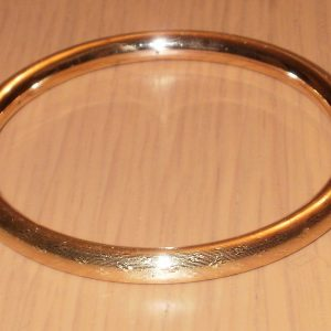 1861-ART DECO 9CT ROSE ROLLED GOLD SLAVE BANGLE