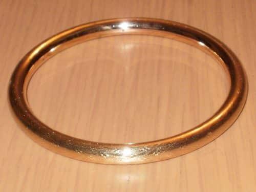 ART DECO 9CT ROSE ROLLED GOLD SLAVE BANGLE -