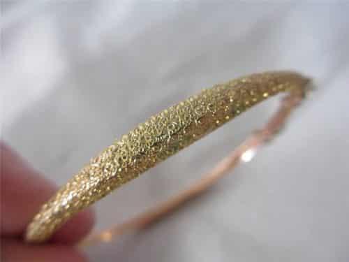 ANTIQUE 1892 VICTORIAN 9CT ROSE GOLD BANGLE -