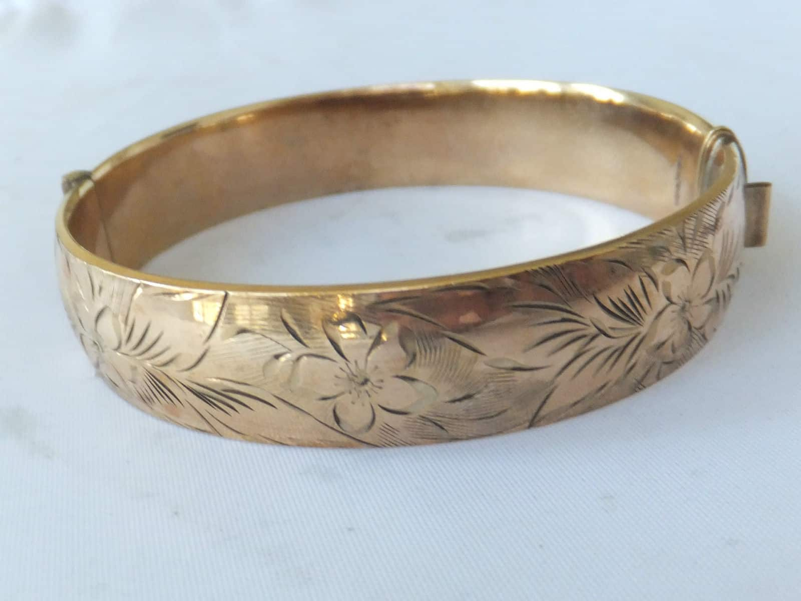 187 Fine Heavy 1 5th 9ct Rolled Gold Bangle R Amp Wmorpeth